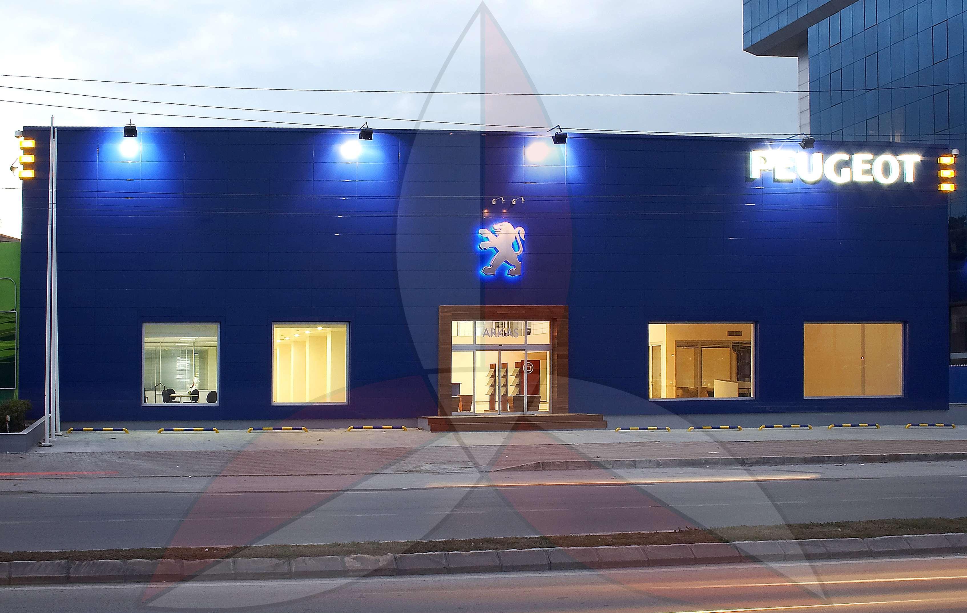 Peugeot Izmir Gaziemir Showroom & Servis Building
